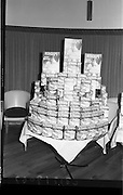 "07/02/1964<br /> 02/07/1964<br /> 07 February 1964<br /> Erin Foods Reception for launch of ""Redichichips"" at the Sybaris Club, Abbey Street, Dublin. Picture shows a display of boxes of ""Redichips""."
