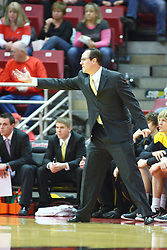22 February 2012:  Gregg Marshall during an NCAA Missouri Valley Conference mens basketball game between the Wichita State Shockers and the Illinois State Redbirds in Redbird Arena, Normal IL