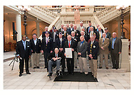 Governor Nathan Deal paid tribute to Vietnam Veterans and the 40th anniversary of the withdrawal of troops from Vietnam on Thursday, March 28, 2013, at 11  a.m., inside the State Capitol with the presentation of the State's proclamation.  Governor Deal was joined by Department of Veterans Service Commissioner Pete Wheeler, Vietnam Veterans of America Georgia State Council President Spence Davis, and representatives of Georgia's Veteran Service Organizations.  This was Governor Deal's third consecutive year gathering with Commissioner Wheeler, members of the Vietnam Veterans of America - Georgia State Council, and other Veteran Service Organizations in Georgia recognizing Vietnam Veterans.  Governor Deal served in the U.S. Army during the Vietnam era.