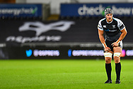 Dan Lydiate of Ospreys<br /> <br /> Photographer Craig Thomas/Replay Images<br /> <br /> Guinness PRO14 Round 4 - Ospreys v Benetton Treviso - Saturday 22nd September 2018 - Liberty Stadium - Swansea<br /> <br /> World Copyright &copy; Replay Images . All rights reserved. info@replayimages.co.uk - http://replayimages.co.uk