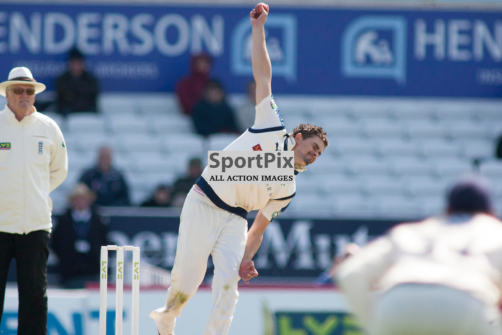 Will Rhodes in the Yorkshire v Warwickshire LV= County Championship Division One at Headingley, 26 April 2015<br />