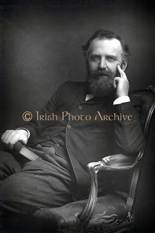 William Thomas Stead (1849-1912) English author and journalist, c1890. Editor 'Northern Echo' (1871-1880) and 'Pall Mall Gazette' (1883-1890).  He exposed the scandal of child prostitution in London.  Drowned in sinking of SS Titanic, 14 April 1912.  From 'The Cabinet Portrait Gallery'. (London, 1890-1894).   Photograph. Woodburytype.