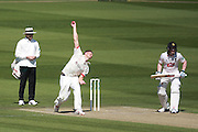 Leicestershire bowler Wayne White during the Specsavers County Champ Div 2 match between Sussex County Cricket Club and Leicestershire County Cricket Club at the 1st Central County Ground, Hove, United Kingdom on 1 May 2016. Photo by Bennett Dean.