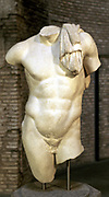 Roman copy of Greek statue. Male torso.