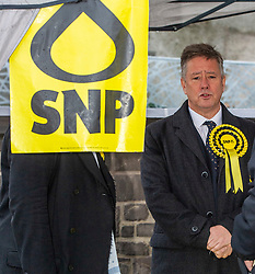"Pictured: Keith Brown<br /> <br /> Keith Brown joined SNP candidate for Ochil and South Perthshire, John Nicolson, on the campaign trail in Auchterarder today.    The SNP Depute Leader said that Scottish voters hold ""the key to locking Boris Johnson out of power.""<br />  <br /> Mr Brown welcomed local activists when they repaired to Cafe Kisa for a welcome warming drink.<br /> <br /> Ger Harley 