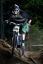 Third placed Dusan Leposa (SLO) of Masters 30-34 category at MTB Downhill European Championships, on June 13, 2009, at Kranjska Gora, Slovenia. (Photo by Vid Ponikvar / Sportida)
