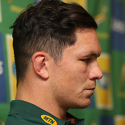 DURBAN, SOUTH AFRICA - AUGUST 14: Francois Louw during the South African national rugby team media conference at Garden Court Umhlanga on August 14, 2018 in Durban, South Africa. (Photo by Steve Haag/Gallo Images)