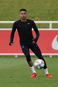 England midfielder Jesse Lingard during the training session for England at St George's Park National Football Centre, Burton-Upon-Trent, United Kingdom on 28 May 2019.