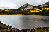 12,432 East Beckwith Mountain and Lost Lake Slough during a autumn storm.  West Elk Mountains, Colorado.