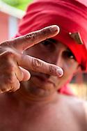 Man in Playa Blanca, Holguin, Cuba.