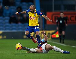 Nathan Redmond of Southampton (L) and James Tarkowski of Burnley in action - Mandatory by-line: Jack Phillips/JMP - 02/02/2019 - FOOTBALL - Turf Moor - Burnley, England - Burnley v Southampton - English Premier League