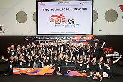 Volunteers Group Shot  at 2015 IPC Swimming World Championships -