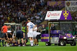 Zoran Pavlovic of Maribor injured at Third Round of Champions League qualifications football match between NK Maribor and FC Zurich,  on August 05, 2009, in Ljudski vrt , Maribor, Slovenia. Zurich won 3:0 and qualified to next Round. (Photo by Vid Ponikvar / Sportida)
