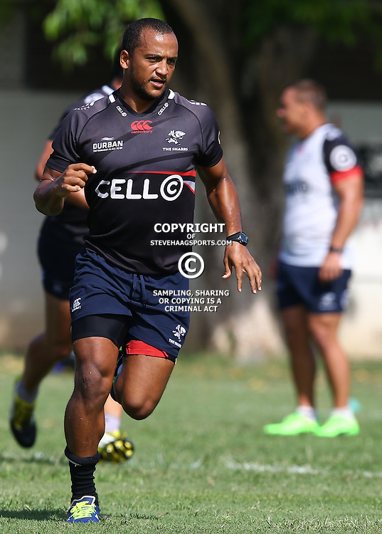 Rhyno Smith during The Cell C Sharks Pre Season training, session at Growthpoint Kings Park in Durban, South Africa. 16 February 2017(Photo by Steve Haag)<br /> <br /> images for social media must have consent from Steve Haag
