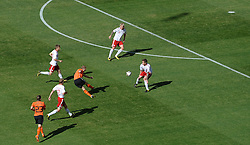 14.06.2010, Soccer City Stadium, Johannesburg, RSA, FIFA WM 2010, Niederlande vs Dänemark im Bild .Dirk Kuyt of Netherlands shoots on goal surrounded by the Danish defence, EXPA Pictures © 2010, PhotoCredit: EXPA/ IPS/ Mark Atkins / SPORTIDA PHOTO AGENCY