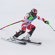 Winter Olympics, Vancouver, 2010.Sandro Viletta, Switzerland, in action during the Alpine Skiing, Men's Slalom at Whistler Creekside, Whistler, during the Vancouver Winter Olympics. 27th February 2010. Photo Tim Clayton