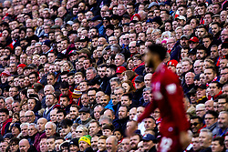 Liverpool fans look on at Joe Gomez of Liverpool - Mandatory by-line: Robbie Stephenson/JMP - 11/11/2018 - FOOTBALL - Anfield - Liverpool, England - Liverpool v Fulham - Premier League