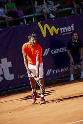 June 21, 2018 - L'Aquila, Italy - Benjamin Hassan during match between Benjamin Hassan (GER) and Gianluigi Quinzi (ITA) during day 6 at the Internazionali di Tennis Città dell'Aquila (ATP Challenger L'Aquila) in L'Aquila, Italy, on June 20, 2018. (Credit Image: © Manuel Romano/NurPhoto via ZUMA Press)