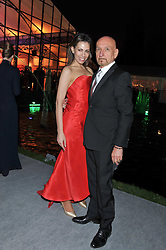 SIR BEN KINGSLEY and DANIELA LAVENDER at the Raisa Gorbachev Foundation Gala held at the Stud House, Hampton Court, Surrey on 22nd September 22 2011