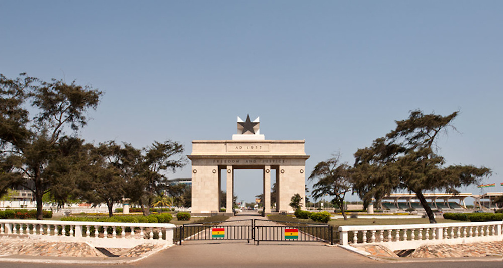 View of Independence Arch at Black Star Square, Accra, Ghana 2011