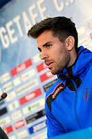 Getafe's new player Leandro Daniel Cabrera during his official presentation. January 16, 2018. (ALTERPHOTOS/Acero)