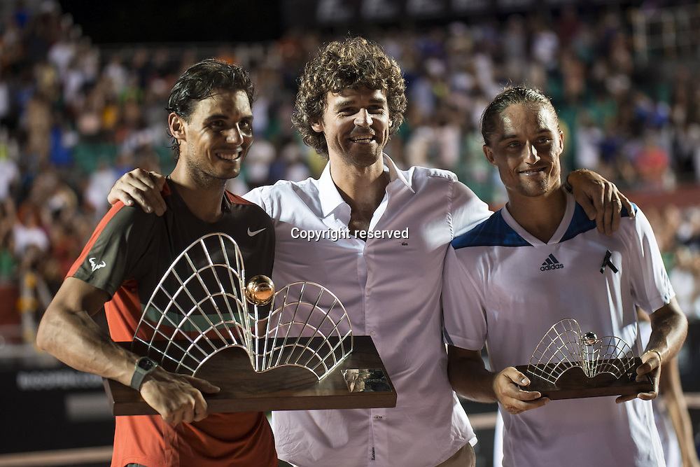 23.02.2014. Rio de Janeiro, Brazil. Rafael Nadal wins the final of the Rio Open in Rio de Janeiro, Brazil defeating Alexandr Dolgopolov 6-3, 7-6 (3).