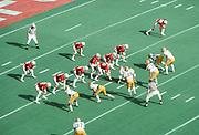 1977 Sun Bowl, Stanford v LSU, December 31, 1977 at Sun Bowl Stadium, University of Texas El Paso, El Paso, Texas.  Visible players include Stanford quarterback Guy Benjamin #7, Gordon King #72, Darrin Nelson #31, John Finley #20, Marty Smith #88, Gene Engle #70, Mark Hill #59,  Don McCann #60, Jim Stephens #63, James Lofton #30.   Photograph by David Madison | www.davidmadison.com