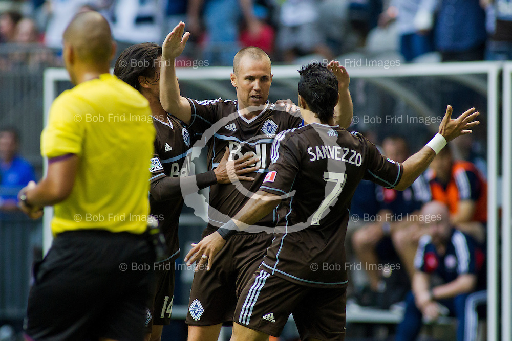 15 June 2013:   Action during a game between Vancouver Whitecaps FC and New England Revolution on Bell Pitch at BC Place Stadium in Vancouver, BC, Canada. Final Score: Vancouver 4  New England 3  ****(Photo by Bob Frid - Vancouver Whitecaps 2013 - All Rights Reserved)***