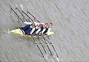 London, GREAT BRITAIN,  London RC I, Bow, James LINDSAY-FYNN, Rob WILLIAMS, Elia LUINI ans Stefano BASALINI,  Fullers Fours Head of the River Race, Raced over the reverse Championship Course, Mortlake to Putney. Saturday  [Date}. [Mandatory Credit. Peter Spurrier/Intersport Images] Rowing Course: River Thames, Championship course, Putney to Mortlake 4.25 Miles,