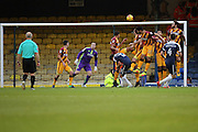 Southend United midfielder Anthony Wordsworth (4) with a free kick during the EFL Sky Bet League 1 match between Southend United and Bradford City at Roots Hall, Southend, England on 19 November 2016. Photo by Matthew Redman.