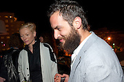 TILDA SWINTON; SANDRO KOPP, Tilda Swinton / Pringle Dinner at the Webster,  Miami Beach. 3 December 2010. -DO NOT ARCHIVE-© Copyright Photograph by Dafydd Jones. 248 Clapham Rd. London SW9 0PZ. Tel 0207 820 0771. www.dafjones.com.