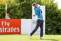 26.06.2014, Golf Club Gut Laerchenhof, Pulheim, GER, BNW International Golf Open, im Bild Martin Kaymer (GER) am Abschlag, Tee <br />BMW International Open 2014, Golf, Tag 1, 26.06.2014, Foto: Eibner // during the International BMW Golf Open at the Golf Club Gut Laerchenhof in Pulheim, Germany on 2014/06/26. EXPA Pictures © 2014, PhotoCredit: EXPA/ Eibner-Pressefoto/ Kolbert<br /> <br /> *****ATTENTION - OUT of GER*****