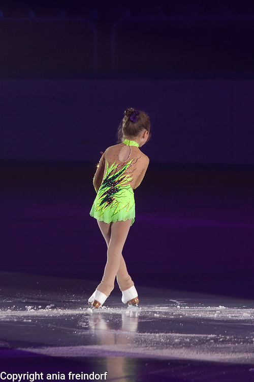 International Ice Skating Gala, Courchevel, France, 20 July 2017, Vivienne Blochinger, 6 years old, Suisse.