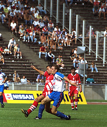 BERLIN, GERMANY - Sunday, August 7, 1994: Liverpool's Paul Stewart during a preseason friendly between Hertha BSC Berlin and Liverpool FC at the Olympiastadion. Liverpool won 3-0. (Pic by David Rawcliffe/Propaganda)