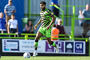 Forest Green Rovers Dominic Bernard(3) on the ball during the EFL Sky Bet League 2 match between Forest Green Rovers and Colchester United at the New Lawn, Forest Green, United Kingdom on 14 September 2019.