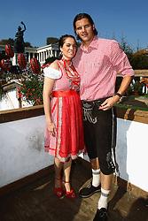 02-10-2011 VOETBAL: OKTOBERFEST FC BAYERN MUNCHEN: MUNCHEN<br /> Daniel van Buyten of FC Bayern Muenchen attends with his wife Celine van Buyten <br /> ***NETHERLANDS ONLY***<br /> ©2011-FRH- NPH / Hassenstein