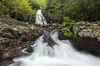 Spruce Flats Falls in the Tremont area of Great Smoky Mountain National Park, Tennessee.