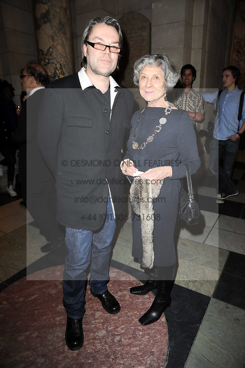 JOAN BURSTEIN and DAVID DOWNTON at the London College of Fashion Show held at the Victoria & Albert Museum, Cromwell Road, London on 28th January 2010.