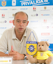 Coach Darko Birjukov at press conference of NK Domzale before new First league season 2010/2011, on July 15, 2010 in Domzale, Slovenia. (Photo by Vid Ponikvar / Sportida)