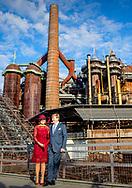 12-10-2018 - VOLKLINGEN - King Willem-Alexander and Queen Maxima during Völklinger Hütte, meeting on 'European industry and work culture' (Völklingen) . The royal couple brings a working visit to the German federal states Rhineland-Palatinate and Saarland.  ROBIN UTRECHT