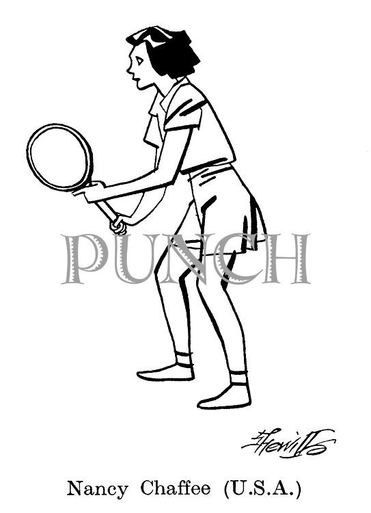 Sorry, No Croquet ; Wimbledon tennis<br /> Nancy Chaffee ( USA )