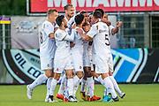 VELSEN - 22-08-2016, Telstar - Helmond Sport, Rabobank IJmond Stadion, SC Telstar speler Crescendo van Berkel (m) heeft de 1-0 gescoord.
