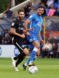 Ryan Tafazolli of Peterborough United in action with Ben Close of Portsmouth - Mandatory by-line: Joe Dent/JMP - 15/09/2018 - FOOTBALL - ABAX Stadium - Peterborough, England - Peterborough United v Portsmouth - Sky Bet League One