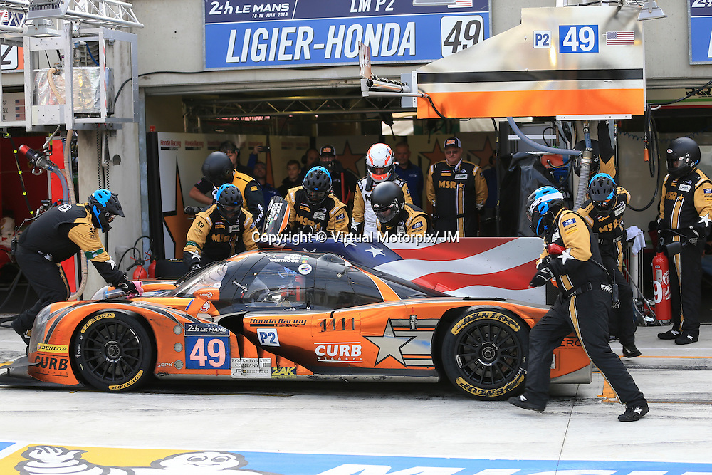 #49, Ligier JS P2 Honda, Michael Shank Racing, driven by John Pew, Ozz Negri Jr, Laurens Vanthoor, 24 Heures Du Mans , 19/06/2016,