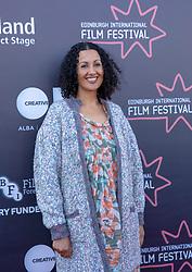Judges photo-call at Edinburgh International Film Festival<br /> <br /> Pictured: Miriam Bale, Film Critic (Shorts Jury)