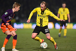 January 23, 2019 - Burton-Upon-Trent, Staffordshire, United Kingdom - Burton Albion forward Liam Boyce (27) battles with Manchester City midfielder Oleksandr Zinchenko (35) during the Carabao Cup match between Burton Albion and Manchester City at the Pirelli Stadium, Burton upon Trent on Wednesday 23rd January 2019. (Credit: MI News & Sport) (Credit Image: © Mark Fletcher/NurPhoto via ZUMA Press)