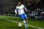 Tranmere Rovers forward (on loan from Aston Villa) Rushian Hepburn-Murphy (18) sprints forward with the ball during the The FA Cup match between Wycombe Wanderers and Tranmere Rovers at Adams Park, High Wycombe, England on 20 November 2019.