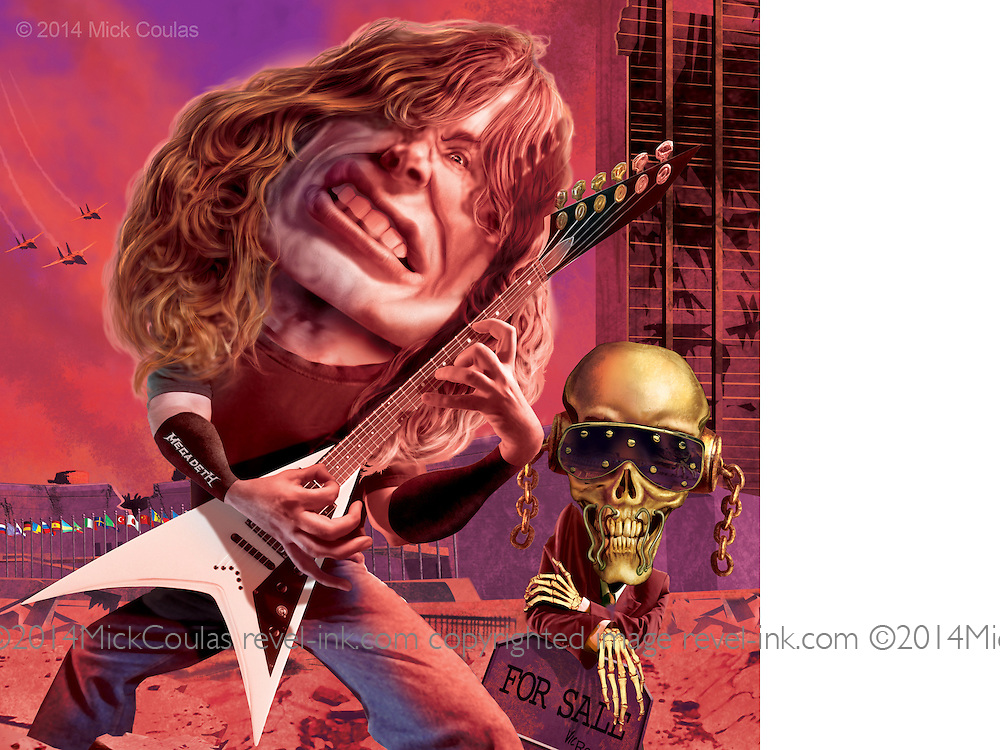 Megadeth Caricature. | Mick Coulas Digital Illustration