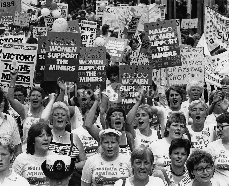 National Women's demonstration in support of the Miners strike; 11 August 1984