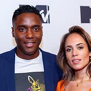 NLD/Amsterdam/20181029 - MTV pre party 2018, Nienke Plas en partner Resley Stjeward